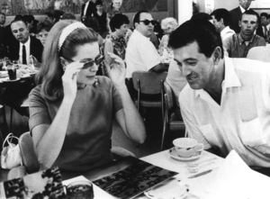 Grace Kelly with Rock Hudson lunching in the MGM commissary, 1967.**I.V. - Image 0724_0299