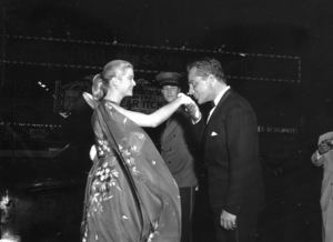 "Grace Kelly with Rossano Brazzi at the premiere of ""Summer Time,"" in New York city, 1955.**I.V. - Image 0724_0332"