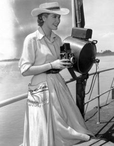 Grace Kelly on the deck of a Boat on Magdalena River,1954.**I.V. - Image 0724_0348