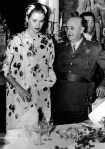 Grace Kelly with General Issimo Francisco Franco, Spain