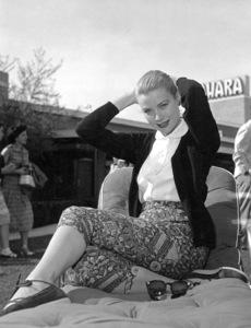 Grace Kelly relaxing at the Hotel Sahara in Las Vegas, 1955.**I.V. - Image 0724_0357
