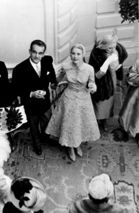 "Grace Kelly and Prince Rainier in ""The Wedding In Monaco,"" 1956.**I.V. - Image 0724_0367"