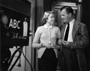 Grace Kelly and Neil Hamilton for an ABC- TV Hollywood screen test, 5/18/53. © 1978 George E. Joseph - Image 0724_0374