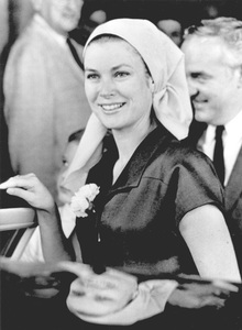 Grace Kelly w/ Prince Rainier leaving the hospital after suffering a miscarriage.1967 - Image 0724_0423