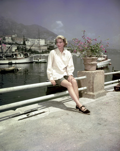 """Grace Kelly in Monaco during filming of """"To Catch a Thief"""" 1954 ** I.V. - Image 0724_0428"""