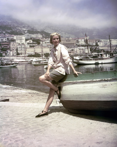 """Grace Kelly in Monaco during filming of """"To Catch a Thief"""" 1954 ** I.V. - Image 0724_0429"""
