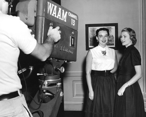 Grace Kelly with Channel 13 television camera, 1950s, I.V. - Image 0724_0440