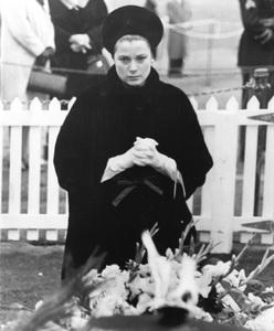 Grace Kelly at gravesite of JFK, 1963, I.V. - Image 0724_0441