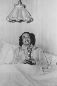 """Joan Crawford with her 1945 Academy Award for""""Mildred Pierce""""*R.C.* - Image 0728_1301"""
