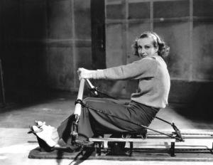 Joan Crawford exercising on a rowing machineMGM, 1933**I.V. - Image 0728_8321