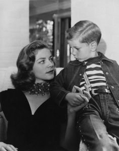 Lauren Bacall and son Stephen1955Photo by Floyd McCarty - Image 0730_0068