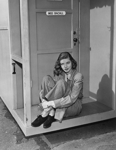 "Lauren Bacallrelaxing on the porch of her dressing room between scenes of ""Confidential Agent""1945 - Image 0730_0086"