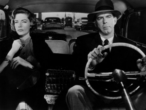 """Lauren Bacall and Fred MacMurray in """"Woman"""