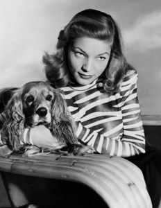 Lauren Bacall and pet dog Droopy1945Photo by Floyd McCarty - Image 0730_0292