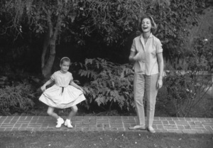 Lauren Bacall with Daughter Leslie Bogart at home in Beverly Hills CA. 1958 © 1978 Bob Willoughby - Image 0730_0506