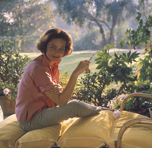 Lauren Bacall at home in Beverly Hills CA.1958 © 1978 Bob Willoughby - Image 0730_0517