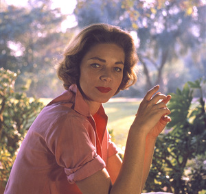 Lauren Bacall at home in Beverly Hills CA.1958 © 1978 Bob Willoughby - Image 0730_0518