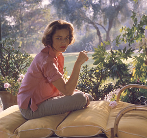 Lauren Bacall at home in Beverly Hills CA.1958 © 1978 Bob Willoughby - Image 0730_0519