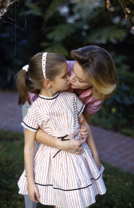 Lauren Bacall with daughter Leslie Bogart at home in Beverly Hills, CA1958© 1978 Bob Willoughby - Image 0730_0550