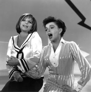 "Barbra Streisand and Judy Garland on the ""Judy Garland Show""circa 1964Photo by Gabi Rona - Image 0733_0230"