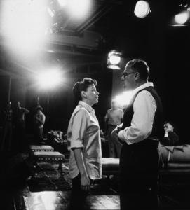 Judy Garland, director George CukorFilm SetStar Is Born, A (1954) © 1978 Bob Willoughby0047522 - Image 0733_2055