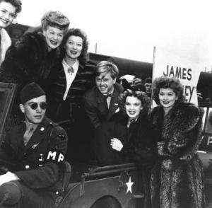 Betty Hutton, Greer Garson, Mickey Rooney, Judy Garland, Lucille Ball.  c. 1941**R.C. - Image 0733_2103