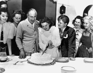 Louis B. Mayer, Judy Garland, Mickey Rooneyc. 1939**R.C. - Image 0733_2106