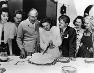 Louis B. Mayer, Judy Garland and Mickey Rooney circa 1939 ** R.C. - Image 0733_2106