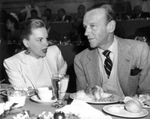 Judy Garland and Fred Astaire at an MGM 25th Anniversary studio luncheon 1949 ** I.V. - Image 0733_2193