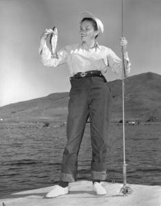 Judy Garlandon vacation fishing at Sun Valley, Idaho1950** I.V. - Image 0733_2198