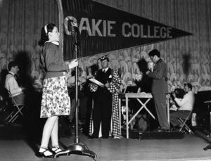 Judy Garland and Jack Oakie on his radio program1937** I.V. - Image 0733_2255