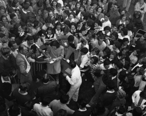 Judy Garland has a world premiere at Miami Beach and signs autographs for the students at Miami Beach High School1946** I.V. - Image 0733_2261