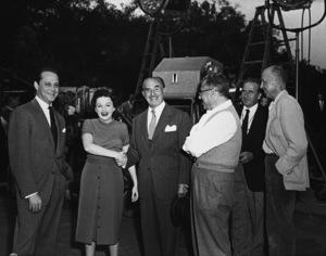 """A Star Is Born"" Sidney Luft, Judy Garland, Jack Warner, director George Cukor 1954 ** R.C. - Image 0733_2324"