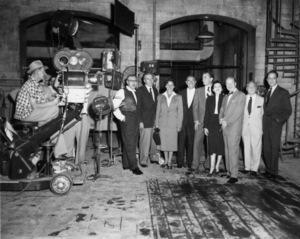 """A Star Is Born""Director George Cukor, Jack Warner, James Mason, Judy Garland, Sidney Luft1954** I.V. - Image 0733_2330"