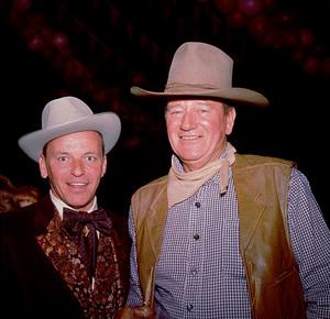 John Wayne and Frank Sinatra at Share Party, 1965. © 1978 Bernie Abramson - Image 0736_0003