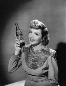 Claudette Colbert in a Royal Crown Cola advertisementcirca 1949© 1978 Paul Hesse - Image 0745_0154