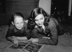 Barbara Stanwyck and Anthony, c. 1938.**I.V. - Image 0749_0792