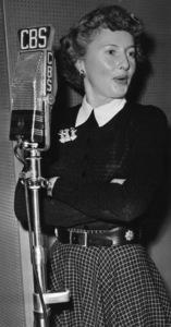 "Barbara Stanwyck on ""CBS Radio""circa 1950sPhoto by Gabi Rona - Image 0749_0834"