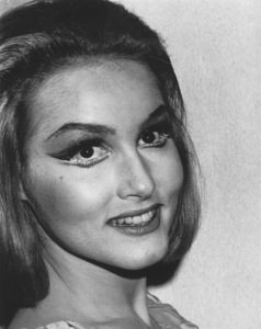 """Julie Newmar on the set of """"Batman"""" 1966 . © 1978 Chester Maydole - Image 0752_0011"""