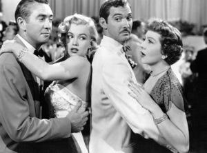 Marilyn Monroe, Macdonald Carey, Zachary Scott, Claudette Colbert