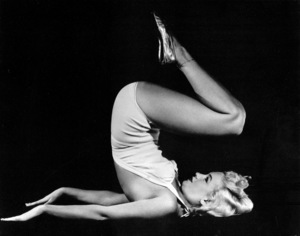 """Marilyn Monroe taken during the filming of""""Ladies Of The Chorus (1948), ColumbiaPictures took photos of the young starlet exercisingfor a publicity piece on """"How To Exercise.""""**R.C. - Image 0758_0098"""