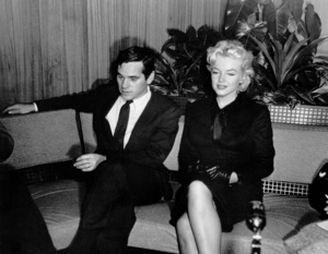 Marilyn Monroe with her agentMilton Greene at a Hollywood PressConference, February 25, 1956. - Image 0758_0132