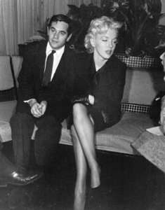 Marilyn Monroe with her agent Milton Greene at a Hollywood PressConference, February 25, 1956. - Image 0758_0134