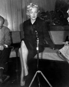 Marilyn Monroe at a Hollywood Press ConferenceFebruary 25, 1956. - Image 0758_0140