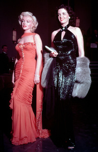 """Marilyn Monroe and Jane Russellpublicity still for """"Gentlemen Prefer Blondes.""""1953 / 20th Century FoxPhoto by Emerson Hall - Image 0758_0200"""