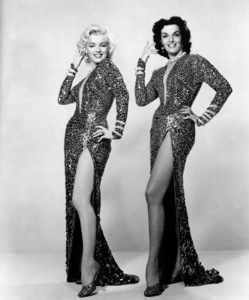 """Marilyn Monroe and Jane Russell""""Gentlemen Prefer Blondes""""1953 / 20th Century Foxphoto by Frank Powolny - Image 0758_0266"""
