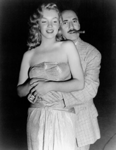"""Marilyn Monroe with Groucho Marx on the set of """"Love Happy"""" 1949 United Artists - Image 0758_0282"""