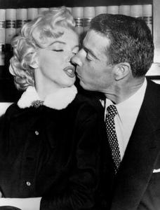 Marilyn Monroe and Joe DiMaggioon their wedding day, January 14, 1954. - Image 0758_0362