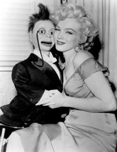 "Marilyn Monroewith ""Charlie McCarthy""c. 1952 - Image 0758_0366"