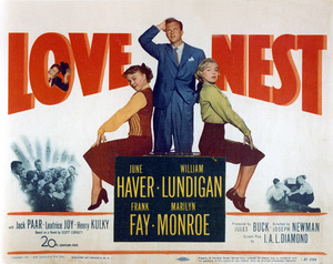 """Love Nest"" Movie PosterJune Haver, William Lundigan, Marilyn Monroe1951 / 20th Century Fox - Image 0758_0379"